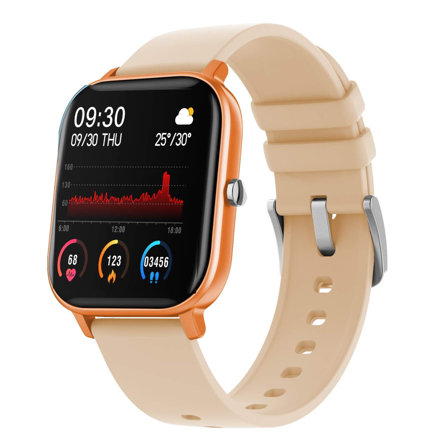 Fire-Boltt BSW001  Smart Watch - Full Touch 1.4 inch (Gold)